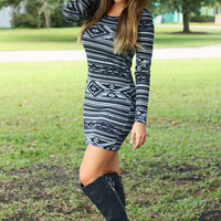 The Night We Fell In Love Dress: Black/Gray