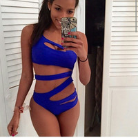 Sexy Bandage Swimsuit Women One Pieces Beach Wear Bodysuit Swimwear