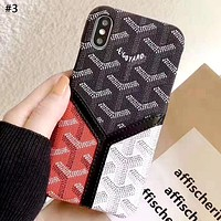 Goyard Tide brand color matching iphone xs max phone case #3