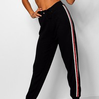 Sports Stripe Loopback Joggers | Boohoo