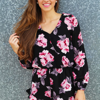 Head Over Floral Romper