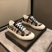 Burberry Men Fashion Boots fashionable Casual leather Breathable Sneakers Running Shoes07080cx
