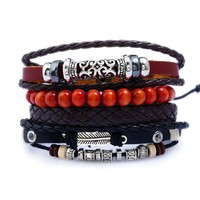 Awesome New Arrival Gift Great Deal Shiny Stylish Hot Sale Leather Alloy Men Accessory Bracelet [250989019165]