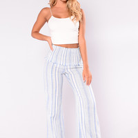 Dreamer High Rise Pants - Blue/White