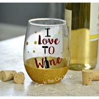 Love to Wine - Wine Lover Wine Glass