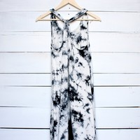 tie dye hi low beach cover up dress