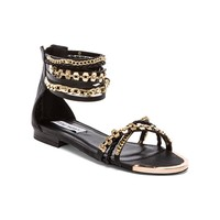 Steve Madden Lawful Sandal in Black