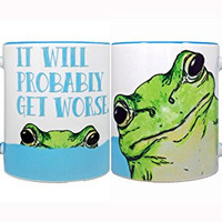 Get Worse Frog Mug by Pithitude - One Single 11oz. Blue Coffee Cup