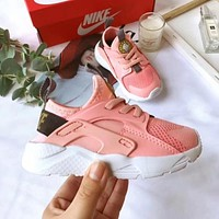 Nike Air Huarache Child Shoes White Pink Toddler Kids Shoes
