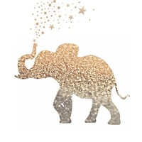 *** HAPPY GATSBY ELEPHANT *** Art Print by Monika Strigel in 5 SIZES !!! Bring HAPPY in your home :)