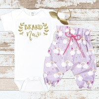 Gold Brand New Newborn Outfit
