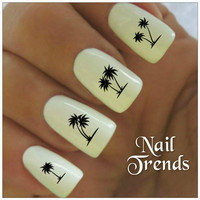 Palm Tree Nail Decal. 20 Vinyl Stickers Nail Art