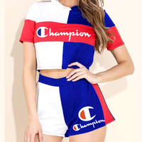 Champion women's sports fashion casual suit two-piece