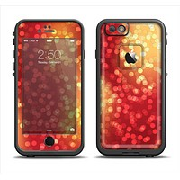 The Red and Yellow Glistening Orbs Apple iPhone 6 LifeProof Fre Case Skin Set