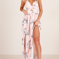 Imagine This maxi dress in peach floral Produced By SHOWPO