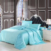 HOT!!2016 imetated satin silk bedclothes comforter bedding sets3/4pcs duvet cover flat sheet pillowcase set full king queen size