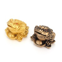 Traditiona Feng Shui Money LUCKY Fortune Wealth Chinese for Frog Toad Coin Home Office Decoration Tabletop Ornaments Lucky Gifts