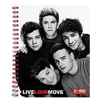 One Direction Limited Edition 1D  OD Together Spiral Notebook Band Red by Office Depot