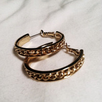 Gold Chain Rihanna Style Hoops! (Small/Indie Brands)