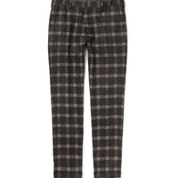 Paul Smith - Slim-Fit Checked Baby Alpaca-Blend Trousers   MR PORTER