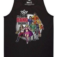 Big Bang Theory Comic Book Logo Officially Licensed Adult Tank Top S-2XL