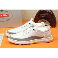prada men fashion boots fashionable casual leather breathable sneakers running shoes 91