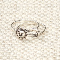 Sun Moon Sterling Silver Ring