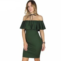 Sexy Elegant Off The Shoulder Bodycon Dress