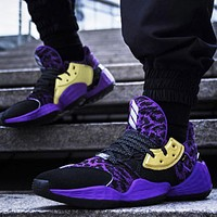 Adidas Harden Vol.4 Popular Men Casual Basketball Shoes Sport Sneakers Purple