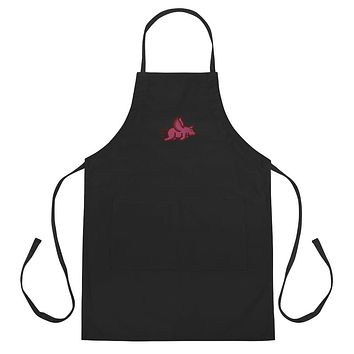 Pig Fly BBQ Embroidered Apron