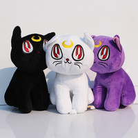 "Sailor Moon Lunar Artemis Diana Cat Plush Doll 17cm 6.7"" H Soft Cotton Stuffed Plush Toys Decorations Gift for Children"