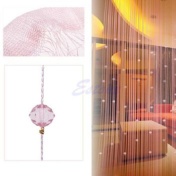 Free Shipping String Curtain Beads Panel Spangle Fringe Room Door Window Panel Blind Divider