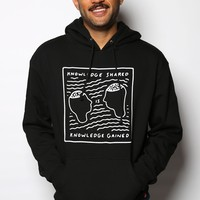 Knowledge Unisex Pullover Hoodie Black