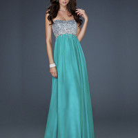 WowDresses — Beautiful A-line Scoop Neckline Floor Length Sequins Prom Dress