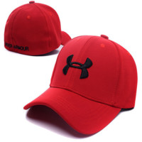UNDER ARMOUR Embroidered Baseball Cap Hat-Red
