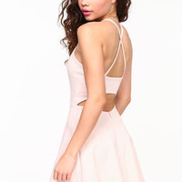 Cut Out Flare Cami Dress - LoveCulture