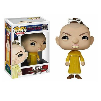Funko Pop Pepper #244 Freak Show American Horror Story Vinyl Action & Toy Figures Collectible Model Toy for Children