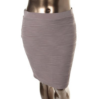 NY Collection Womens Pintuck Knee-Length Pencil Skirt