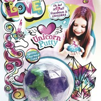 One Love Green Unicorn Encased In Purple Color Slime Toy