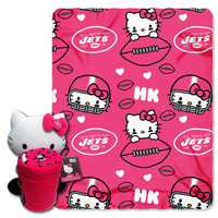 New York Jets NFL Hello Kitty with Throw Combo