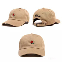New Arrivals Kpop Snapback Cap Men Black Cotton casquette polos Baseball Caps Red rose dedicated to you I love you 6 panel hats