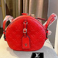 Onewel LV Handbag iphone small apple bag round bag classic Monogram canvas Red
