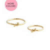 Double Knot Ring Duo