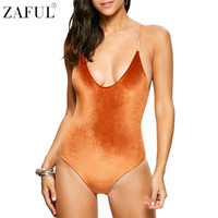 ZAFUL One Piece Swimsuit 2017 Sexy Swimwear Women Bathing Suit Criss Back Reversible Pleuche Summer Beachwear Monokini Swimsuit