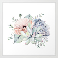 Pretty Succulents by Nature Magick Art Print by naturemagick