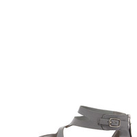 All Roads Lead to Rome Grey and Silver Gladiator Sandals