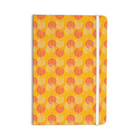 "Apple Kaur Designs ""Wild Summer Dandelions"" Gold Circles Everything Notebook"