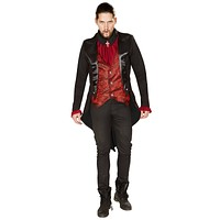 Sexy Purge Count Dracula Collared Jacket, Vest and Neck Piece