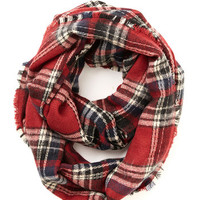 ModCloth Scholastic Campus Chill Scarf in Red