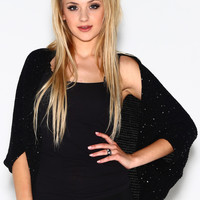 Black Sequin Cardigan-LAST ONE